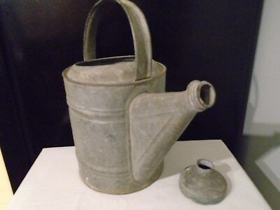 Vintage Galvanized Large Metal Watering Can  #8