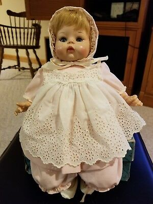 "Madame Alexander 14"" Baby McGuffey doll, blue eyes, crier, original wth box"