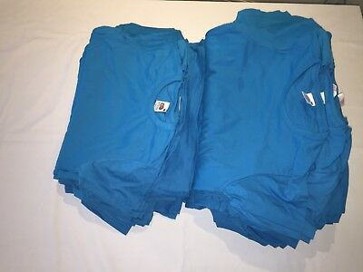 CLEARANCE Resale Ladies Fruit of the Loom Lady Fit T shirts. Azure x 79. AC13.