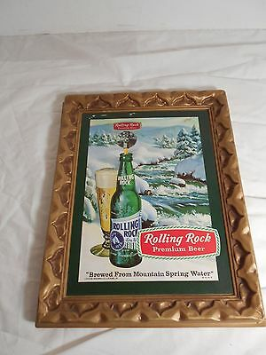 Vintage 1974 Rolling Rock Premium Beer Advertising Molded Plastic Wall Hanging