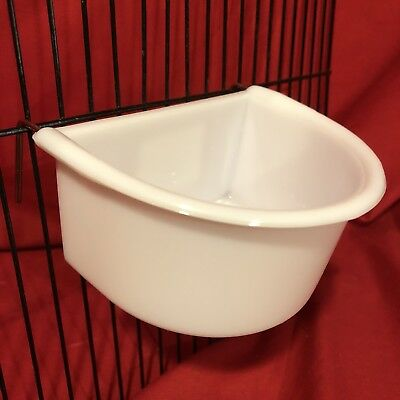 Rabbit Guinea Pig Cage Clip Water Food Bowl 2 Hook Coop Cup 11cm Hamster Rat