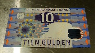 Circulated Netherlands 10 Gulden 1997 Bank Note
