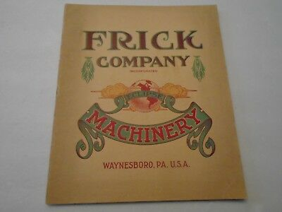 Vintage 1910 Frick Company Eclipse Machinery Catalogue Complete 48 Pgs. Original