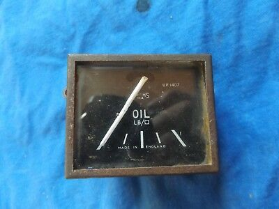 Vintage Ford Triumph Mg Austin Smiths Square 1930's Oil Pressure Gauge Working