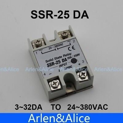 25DA SSR input 3-32V DC load 24-380V AC single phase AC solid state relay