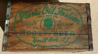 Soda Frostie Old Fashion Creamy Root Beer Wood Crate,Shell,Case STAUNTON, ILL