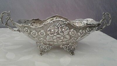 ESTATE Sterling silver 925 hand chased fruit bowl candy dish 1800's beautiful!