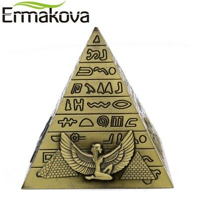 ERMAKOVA Metal Egyptian Pyramids Figurine Pyramid Building Statue Home Office