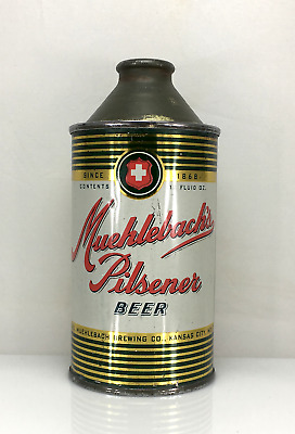 Muehlebach's Pilsner Cone Top Beer Can No Reserve Auction Free Shipping Wow!!