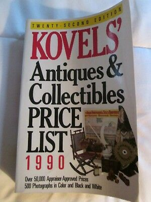 KOVELS' Antique & Collectables Price List 1990  First  Edition by Crown