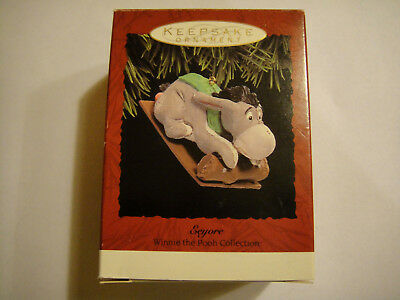 Hallmark Eeyore on Sled Keepsake Ornament Winnie the Pooh Collection