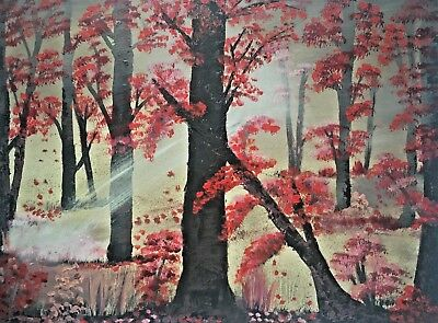 Chasing the Light (Autumn leaves) - Oil Painting 18 x 24 inches canvas