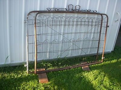 antique wire garden gate  / antique metal garden gate