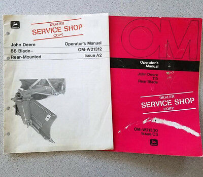 John Deere 88 & 115 Rear Mounted Blade Operator's Manuals