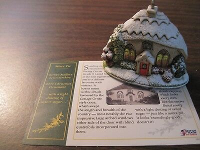 Lilliput Lane Christmas Ornament Mince Pie 2007  #L2990 with Deed