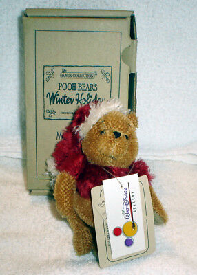 Boyds Collection Winnie the Pooh Poohs Winter Holiday Mohair Bear Ornament - NIB