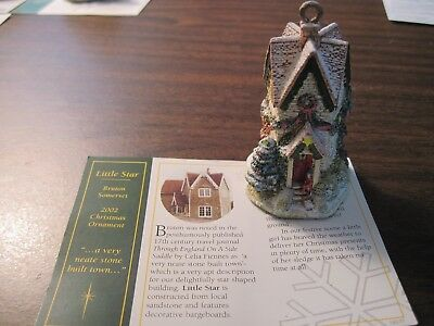 Lilliput Lane Christmas Ornament Little Star 2002  #L2487 with Deed