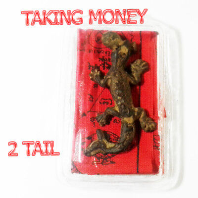Pendant Necklace 2 Tailed Lizard Magic Voodoo Holy Call Money Wealth Rich 237