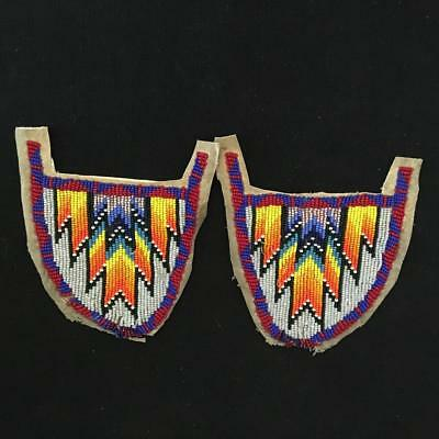 Estate Vintage/Antique Native American Beaded Moccasin Toppers