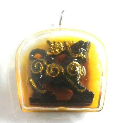 Pendant Necklace Tiger King Thai Amulet Magic Holy Great Powerful No Fear 246