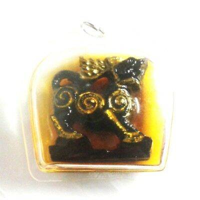 Pendant Necklace Tiger King Thai Amulet Magic Holy Great Powerful No Fear 245