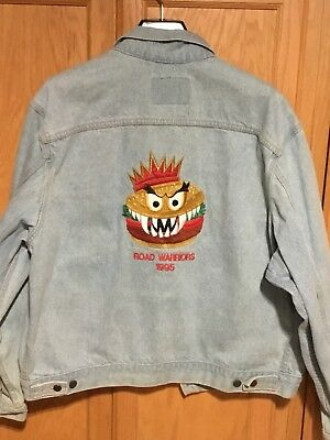 Vintage Burger King ROAD WARRIORS Promo Advertising Employee Denim Jacket XL