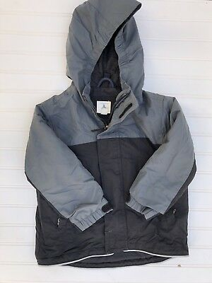 7418e68d7 LANDS  END KIDS Squall Waterproof Green Navy Jacket Coat