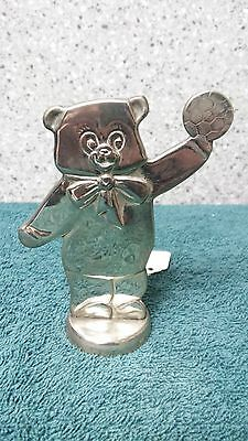 Silverplated Bear decoration for baby's room made in China by unknown mfg