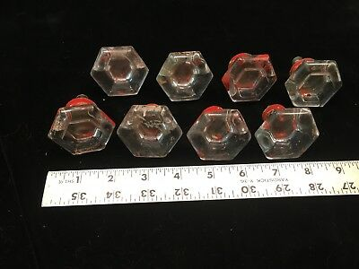 8 pc Antique / Vintage Glass Crystal Door Knobs Hardware shabby chic, Art Deco