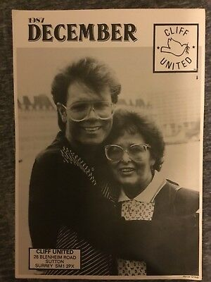 Cliff Richard Cliff United Fanzine December 1987 - Christian Church. Magazine