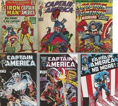 Captain America Comic Book Covers Insert lot X9