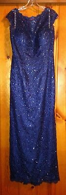 Blue Lace Mother Of The Bride Gown