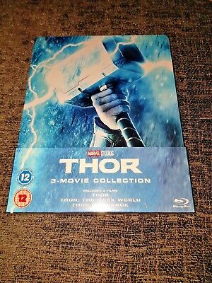 Thor Trilogy 1-3 Collection Blu-Ray Limited Edition Exclusive Steelbook New&Seal