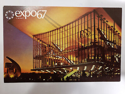 1967 Montreal Canada Expo, The Pavilion of the Soviet Union, Vintage Postcard