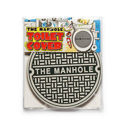The Manhole Toilet Cover Man Cave Bathroom Gag Gift Funny Big Mouth Toys Novelty