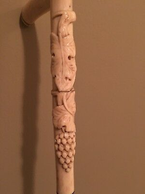 Antique 1800's Walking Stick With Incredible Carved Natural Handle Very Lovely