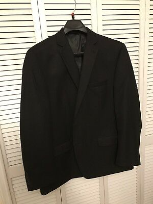 Collection By Michael Strahan Black Suit Jacket Size 48 Long (Only Worn Once)