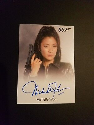 Michelle Yeoh Tomorrow Never Dies James Bond Auto Card