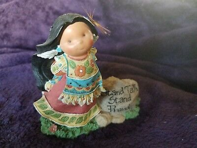 "Retired 2001 Enesco ""stand Tall. Stand Proud"" Friends Of The Feather Figurine"