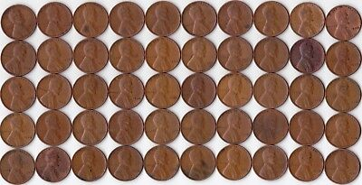 1938p Wheat Cent Roll - 50 circulated cents               WCR-021