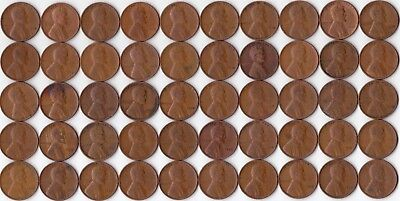 1930p Wheat Cent Roll - 50 circulated cents               WCR-024
