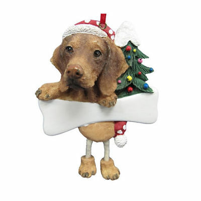 Vizsla Dangling Wobbly Leg Dog Bone Christmas Ornament