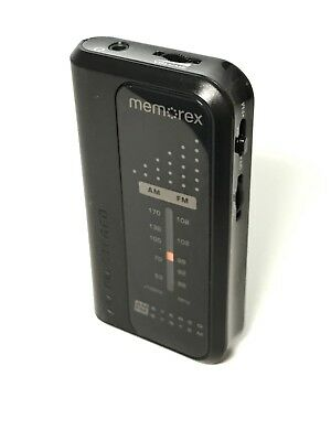 Memorex AM/FM Small Pocket Portable Radio MR4240 Dynamic Bass System TESTED