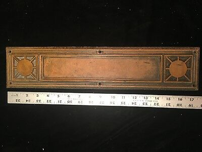 vintage brass door  finger Plate