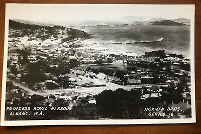 Vintage Princess Royal Harbour Albany W.A Norman Bros Series 16  Photo postcard