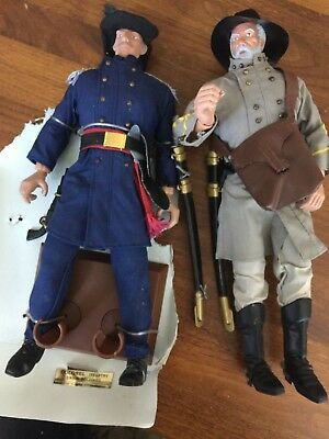 """TWO 12"""" SOLDIERS OF THE WORLD No box Union Infantry Colonel & Civil War soldier"""