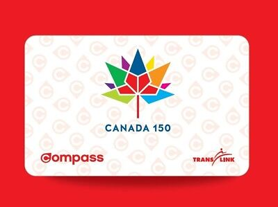Limited Edition Canada 150 Commemorative Compass Card - 2017 Vancouver TransLink