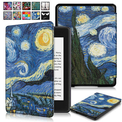 For Amazon Kindle Paperwhite 10th Gen 2018 Painting Case PU Leather Smart Cover
