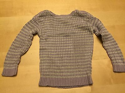 Cherokee Striped Sweater, Purple And Silver, Size 2, Long Sleeved