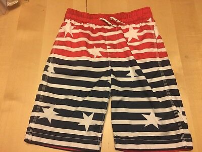 Gap Kids Swim Trunks, Board Short Style, Red, White & Blue, size XXL (13-14)